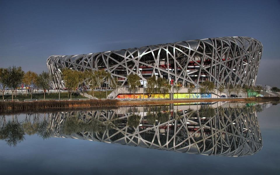 """Тур в Китай. Пекин. Олимпийский объект """"Птичье Гнездо"""""""